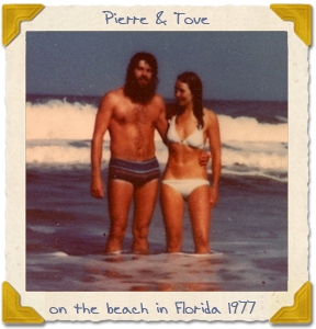 Pierre and Tove on the beach in Florida
