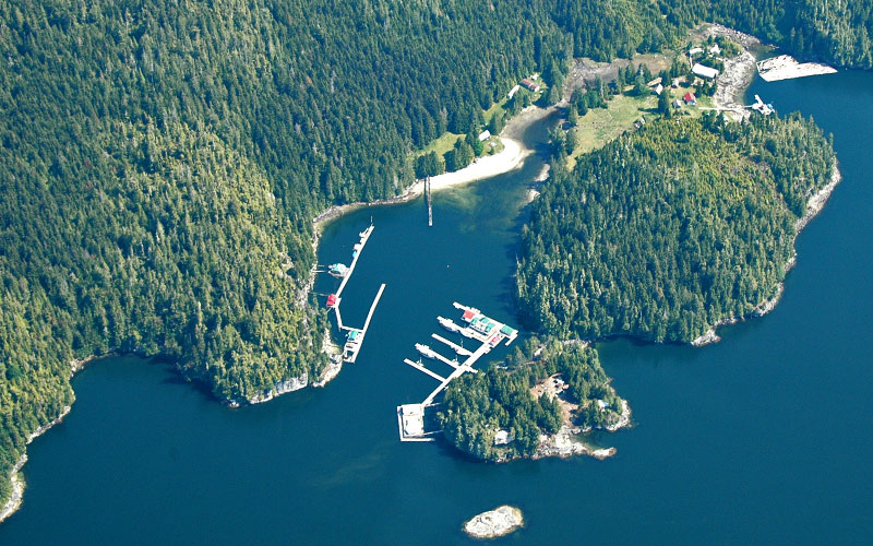 Aerial view of Echo Bay