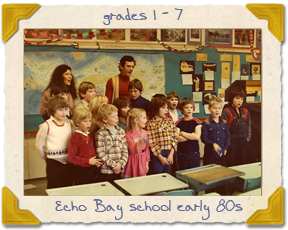 Class at Echo Bay School early 80s
